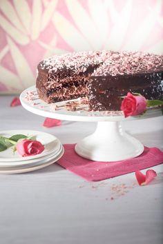 Suklaakakku   K-ruoka #suklaa #kakku #roosanauha