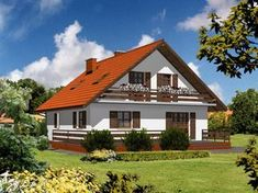 Guest House Plans, New House Plans, Bungalow House Design, Cottage Design, Hut House, Tuscan House, White Houses, Beautiful Architecture, Home Fashion