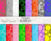 FOAM, BUBBLES, Digital Paper, Clipart, Image, Allover, pattern, scrapbooking, craft, printable sheets, background