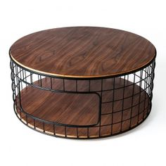 The Wireframe Coffee Table by Gus Modern is a functional accent pie...