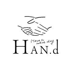 HAN.d ロゴの画像 Logo Word, Typography Logo, Logo Branding, Logos, Share Logo, Circular Logo, Japan Logo, Hand Drawn Logo, Line Illustration