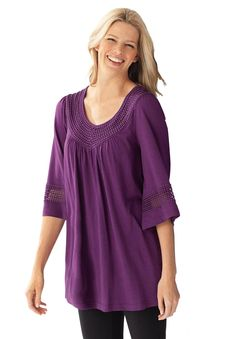 """Plus Size Tops by Length: 30"""" long for Women 