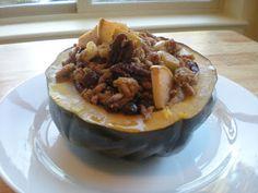 Dinner: Cinnamon Apple Turkey Stuffed Acorn Squash | My Paleo CrockPot
