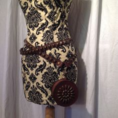 Karen Kell - Double Wrap Studded Belt with Stash Pouch