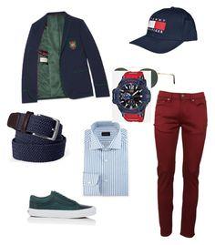 """Спорт"" by explorer-147827380710 on Polyvore featuring Gucci, Vans, Burberry, Lands' End, Tommy Hilfiger, Ray-Ban, Ermenegildo Zegna, G-Shock, men's fashion и menswear"