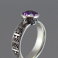 Ring | Sergey Zhiboedov.  Sterling silver with amethyst.