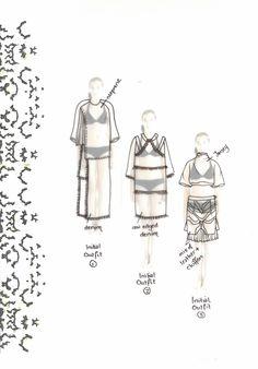 Fashion Sketchbook - fashion design sketches; creative process; fashion student portfolio // Zoe Lipscomb