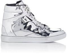 ccc063627380 Balenciaga Women s High-Top Sneakers-SILVER