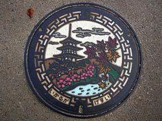 Ikaruga town, Nara pref manhole cover(奈良県斑鳩町のマンホール) by MRSY, via Flickr    beautiful!