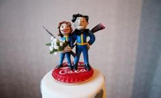 Fallout wedding cake topper