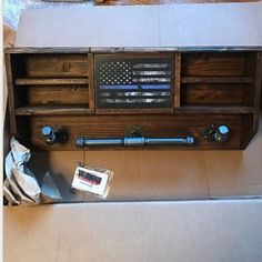 Wall Mounted Duty Gear Rack Tactical Tree and Hidden gun EDC Tactical Wall, Tactical Gear, Tactical Knife, Thin Blue Line Flag, Thin Blue Lines, Warrior Rack, Police Duty Gear, Police Officer Gifts, Police Wife