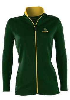#Baylor Bears Antigua Womens Green & Gold lightweight jacket