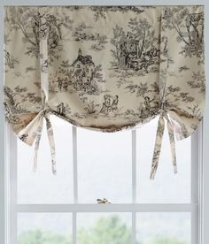 Lenoxdale Toile Tie-Up Valance