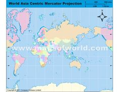 214 best world map images on pinterest wall maps cork boards and cork asia centric world map in mercator projection gumiabroncs Images