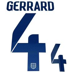 England 2014/15 Gerrard #4 Adult Home Name Set