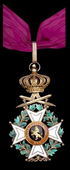 Order of Leopold (military), Commander's neck badge, unilingual.