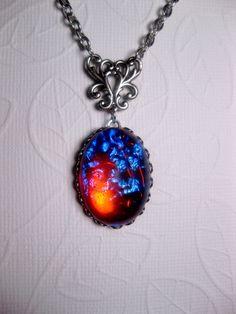 Dragon's Breath Mexican Opal Necklace.  via Etsy.