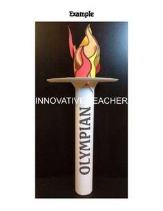 OLYMPIAN TORCH CRAFT- by Innovative Teacher
