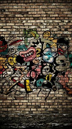 Graffiti Wall Wallpaper by K_a_r_m_a_ - - Free on ZEDGE™ - paint - Graffiti Wallpaper Iphone, Pop Art Wallpaper, Graphic Wallpaper, Wallpaper Space, Galaxy Wallpaper, Cartoon Wallpaper, Hippie Wallpaper, Marvel Wallpaper, Studio Background Images