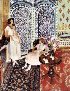 Henri Matisse - Moorish Screen, 1921. Oil on canvas, 91 x 74 cm. Philadelphia Museum of Art, Philadelphia, PA, USA