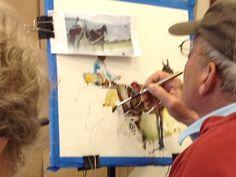 Charles Reid Demo | Charles Reid Watercolor Workshop. Glynn Arts Association, St. Simons ...