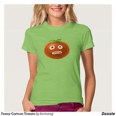 Funny Cartoon #Tomato #Tee / Zazzle