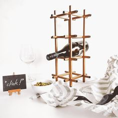 Raksha Bandhan is quietly approaching and I have the perfect gift. Surprise your sibling with the suave Gold Geo Wine Rack from