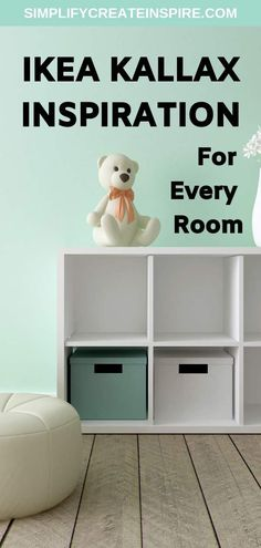 Organise your home from top to bottom with these simple Ikea hacks using the Kallax shelf. The new version Ikea Expedit shelving unit is a versatile storage solution for every room of your home. Kallax hacks for your whole house Diy Storage Desk, Ikea Hack Storage, Craft Room Storage, Cube Storage, Creative Storage, Ikea Hacks, Storage Ideas, Ikea Cube Shelves, Ikea Kallax Shelf