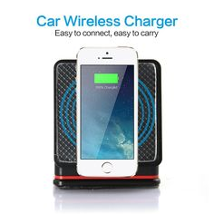 Amazon.com: Cube Mount Holder QI Wireless Charger Transmitter Standard Car Kit for Cellphone (black): Cell Phones & Accessories