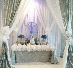 A glamourous Cinderella inspired Quinceañera party! See more party ideas at CatchMyParty.com
