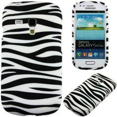 Zebra Print Soft Gel Flexible TPU Silicone Skin Case Cover for Samsung Galaxy S3 III Mini i8190