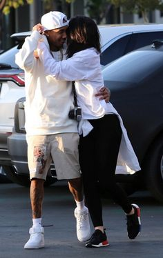 Lean on me! Kylie Jenner flung her arms around Tyga as they made their way to watch the Jungle Book in Calabasas on Wednesday Kylie Jenner Tyga, Trajes Kylie Jenner, Looks Kylie Jenner, Estilo Kylie Jenner, Kyle Jenner, Kardashian Jenner, Couple Outfits, Cute Relationship Goals, Fashion Clothes