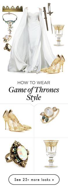 """Game of Thrones"" by britishpepsi on Polyvore featuring Mociun, Sorrelli, Oscar de la Renta and Arte Italica"