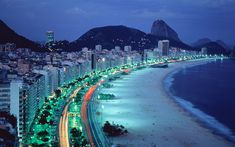 Rio de Janeiro – Located in Brazil. It is the capital city of the State of Rio de Janeiro, the largest city of Brazil. Rio de Janeiro is considered to be on Beautiful Places In The World, Most Beautiful Cities, Places Around The World, Around The Worlds, Beautiful Beaches, Beautiful Images, Beautiful People, Copacabana Beach, Rio De Janerio