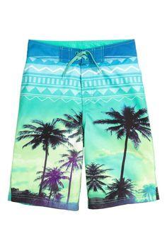 079cb6a8bc Patterned swim shorts | H&M Surf Shorts, Jogger Shorts, Bermuda Shorts,  Joggers,