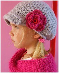 Crochet hat for kids, really cute! Gehaakte kindermuts #crochet #haken
