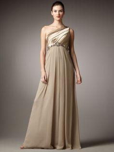 Sheath/Column Beading Sleeveless Floor-length One Shoulder Chiffon Evening Dresses