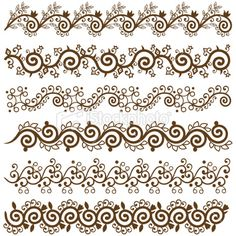 Mehndi Border Design Royalty Free Stock Vector Art Illustration