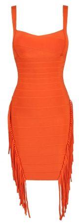 orange fringe dress!