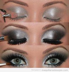 maquillaje-ojos-negro-plateado-paso-a-paso-tutorial-ojos-verdes.jpg (500×525)