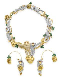 Elizabeth Taylor jewelry with monkeys.