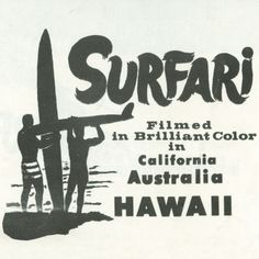 Detail of the poster from the 1967 Don Brown film, Surfari.