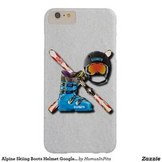 Alpine Skiing Boots Helmet Googles With Your Name Barely There iPhone 6 Plus Case