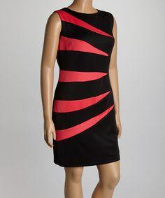 4a4a13b200e R M Richards Black   Fuchsia Scuba Splice Dress - Plus. Zulily Plus SizeRichard  ...