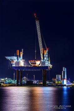 """""""Thor"""" is a special vessel for installing offshore wind turbines."""