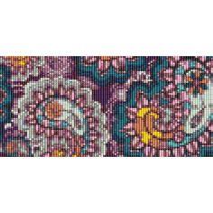 Modèle de Bracelet perlé Loom Paisley Purple