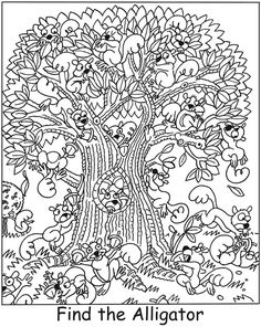 SPARK Adorable Animals Find It! Color It! -- 5 sample pages and answers