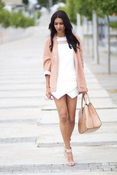 Shop this look on Kaleidoscope (blazer, dress, sandals)  http://kalei.do/WrH7f8R6rvx2sSj1