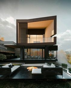 Residence in Kiev by OLEKSIENKO Architectural Initiatives - Architecture and Home Decor - Bedroom - Bathroom - Kitchen And Living Room Interior Design Decorating Ideas - Modern Architecture House, Modern House Design, Architecture Design, Amazing Architecture, Minimal Architecture, Creative Architecture, Residential Architecture, Real Estate Quotes, Dream House Exterior