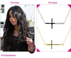 Steal the Real – Roseark Sideways Cross Necklace